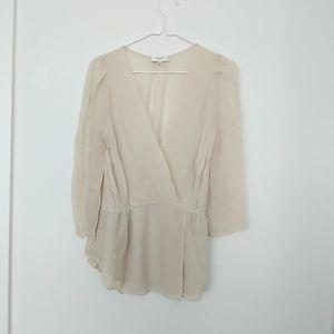 Aritzia Babaton 100% silk blouse